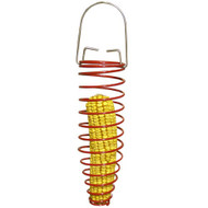 PineBush Metal Corn Cob Feeder Red