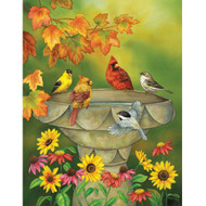 SunsOut Puzzle Autumn Birdbath 1000 pcs