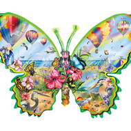 SunsOut Puzzle Flying High Butterfly Shape