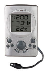 Accurite Digital Thermometer with Humidity Gauge and Clock