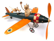 Blue Handworks Cat Aviator Whirligig