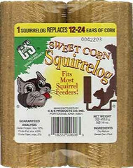 C&S Products 32 oz. Sweet Corn Squirrel Log