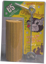 C&S Products Sweet Corn Squirrel Log w/hanger
