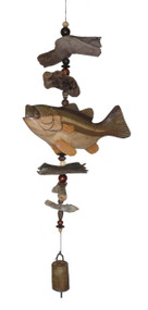Cohasset Imports Big Mouth Bass Bell Wind Chime