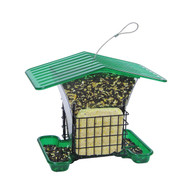 Hiatt Manufacturing Large Hopper Feeder with Suet Holders (Green Only)