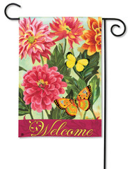 Magnet Works Dahlias Garden Flag