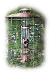 Woodlink Coppertop Cages 6-Port Seed Feeder