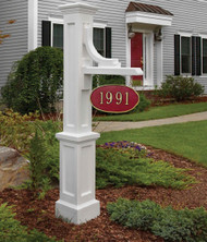 Mayne Woodhaven Address Sign Post White