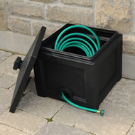 Mayne Fairfield Garden Hose Bin Black