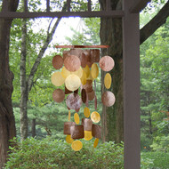 Woodstock Chimes Brown/Gold Capiz Chime