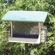 BIRDS CHOICE 7QT. 2-SIDED HOPPER W/2SUET BIRD FEEDER