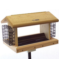 BIRDS CHOICE 5 QT. 2-SIDED HOPPER-w/SUETS BIRD FEEDER