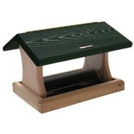 BIRDS CHOICE 5 QT. 2-SIDED HOPPER-GREEN ROOF BIRD FEEDER