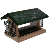 BIRDS CHOICE 5 QT. 2-SIDED HOPPER-w/SUETS(GR. RF) BIRD FEEDER
