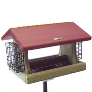 BIRDS CHOICE 5 QT. HOPPER W/SUETS BIRD FEEDER