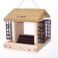 BIRDS CHOICE 2.5 QT. 2-SIDED HOPPER w/SUETS BIRD FEEDER