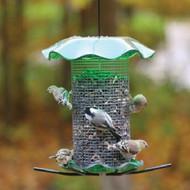 BIRDS CHOICE 3 QT. GREEN-SUNFLOWER BIRD FEEDER