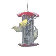 BIRDS CHOICE 1 QT. RED-SUNFLOWER BIRD FEEDER