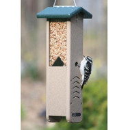 BIRDS CHOICE RECYCLED WOODPECKER FEEDER BIRD FEEDER