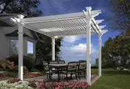 New England Arbors Avalon Louvered Pergola VA42062