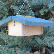 "Nature Products The Nuthatch Peanut Bird Feeder 2280 9""x10""x4"" Blue Roof"