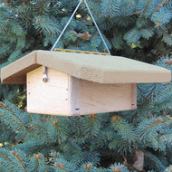 "Nature Products The Nuthatch Peanut Bird Feeder 2280 9""x10""x4"" Natural Roof"