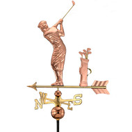 Good Directions Golfer Weathervane - Polished Copper 561P