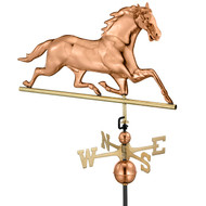 Good Directions Horse Weathervane - Polished Copper 580P