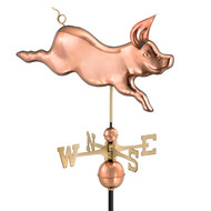 Good Directions Whimsical Pig Weathervane - Polished Copper 608P
