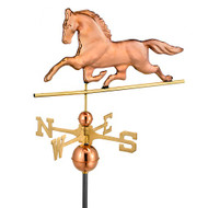 Good Directions Patchen Horse Weathervane - Polished Copper 623P