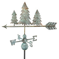 Good Directions Pine Trees Weathervane - Blue Verde Copper 625V1