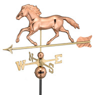 Good Directions Smithsonian Running Horse Weathervane - Polished Copper 952P