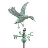Good Directions Landing Duck Weathervane - Blue Verde Copper 9605V1