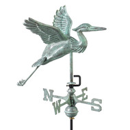 Good Directions Blue Heron Garden Weathervane - Blue Verde Copper w/Garden Pole  8805V1G