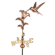 Good Directions Hummingbird Garden Weathervane - Polished Copper w/Roof Mount  8807PR