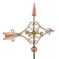 Good Directions Victorian Arrow Garden Weathervane - Polished Copper w/Garden Pole   8842PG