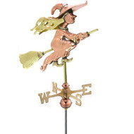 Good Directions Witch Garden Weathervane - Polished Copper w/Roof Mount 8849PR