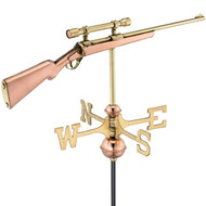 Good Directions Rifle with Scope Garden Weathervane - Polished Copper w/Roof Mount 8859PR