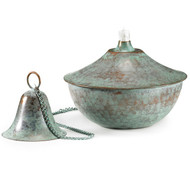 Good Directions Medium Oil Lamp - Blue Verde 206CHV1