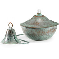 Good Directions Large Oil Lamp - Blue Verde 207CHV1