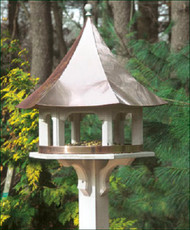 Lazy Hill Farm Designs Carousel Bird Feeder with Polished Copper Roof 42506