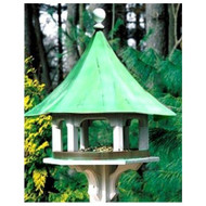 Lazy Hill Farm Designs Carousel Bird Feeder with Blue Verde Copper Roof 43506