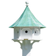 Lazy Hill Farm Designs Carousel Bird House with Blue Verde Copper Roof 43406