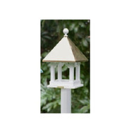 Lazy Hill Farm Designs Square Bird Feeder with Polished Copper Roof 42501