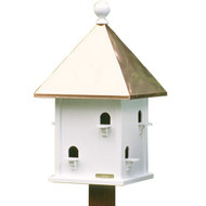 Lazy Hill Farm Designs Square Bird House with Polished Copper Roof 42412