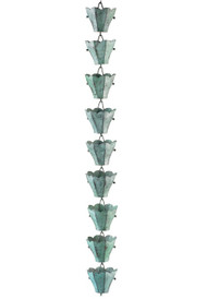 Good Directions 18 Cup Tulip Rain Chain - Blue Verde Copper 463V1-6