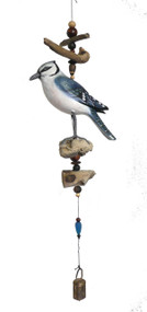 Cohasset Imports Blue Jay Bell Wind Chime CH577