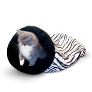 "K&H Self Warming Kitty Sack Zebra Cat Bed 17"" x 17.5"" x 4.5"" KH3495"