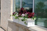Mayne Yorkshire Window Box Planter 7ft. White 8827-W