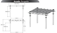 New England Arbors Arcadia Pergola Decorative Pergola VA84045